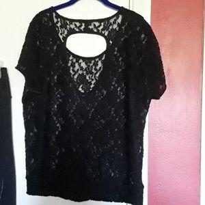 Torrid size 0 xl black lace peek a boo back.
